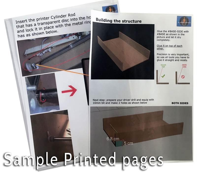 diy dtg printed pages