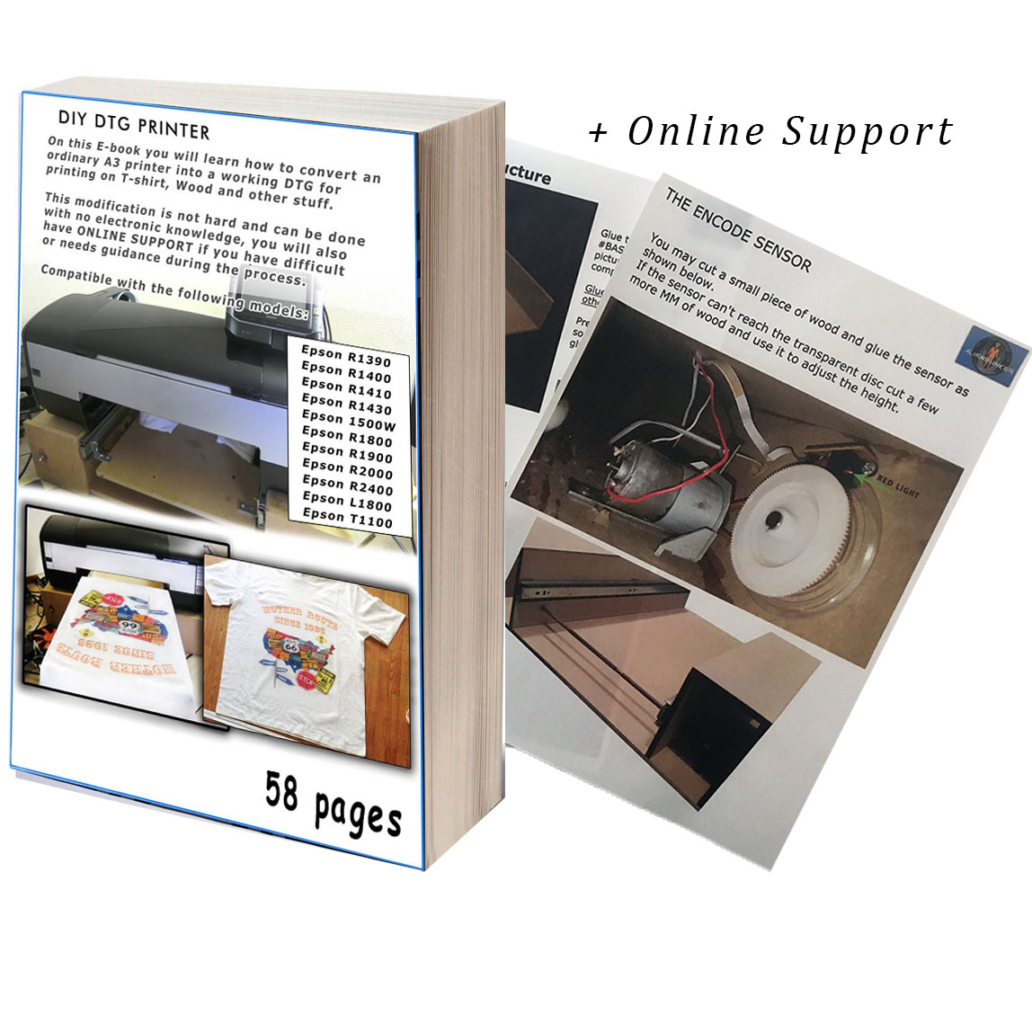 DIY DTG Plans Step by Step T-shirt Printer Epson 1400, 1430, 1390, P600,  1500w, R1800, R1900, R3880 Download PDF