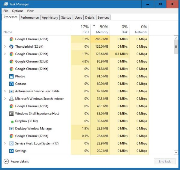 speed up pc task manager