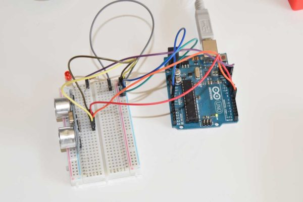 Arduino Board with Ultrasonic sensor