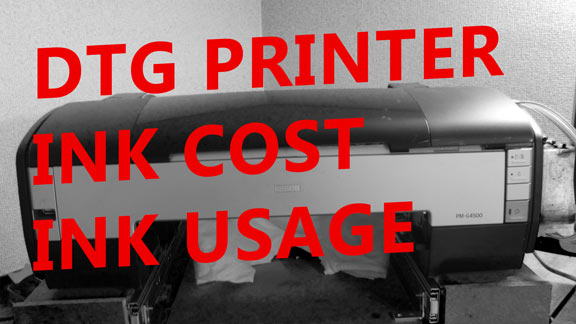 How Much Ink DTG Printer Uses